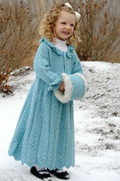Free Knitting Pattern - Girl's Clothes: Snowflake Queen Sweater Coat