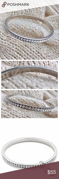 - COACH - Silver Pave Bangle Gorgeous silver pave Coach bangle with clear stones, matches anything! Excellent pre-loved condition, missing the little metal tag, no flaws. 🛍Bundle & Save 20% on 2+ items! 🙅🏼No trades / selling off of Posh.  ✨Offers always welcome!✨ Coach Jewelry Bracelets