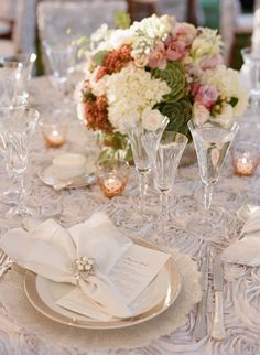 White and Silver Place Setting | photography by http://carrie-patterson.squarespace.com/