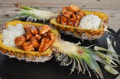 Recipe: Sticky Pineapple Chicken and Rice - Arizona Foodie Pinapple Chicken Recipes, Bbq Pineapple Chicken, Pineapple Fried Rice, Chicken Satay, Chicken Rice, Rice Recipes, Healthy Recipes, Healthy Foods, Oven Baked Chicken Parmesan
