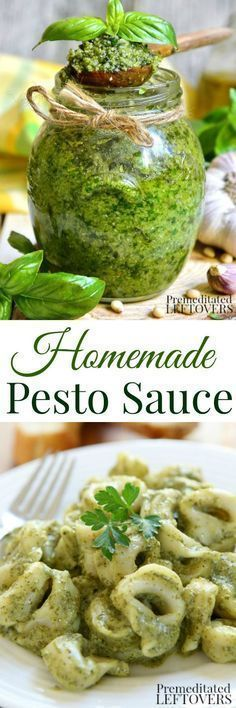 Homemade Pesto Sauce Recipe: This is a quick and easy pesto sauce recipe using fresh basil. It's delicious served over pasta, bruschetta, meat, or salads. Salads to Try Easy Pesto Sauce Recipe, Homemade Pesto Sauce, Homemade Pesto Recipes, Healthy Pesto Sauce, Fresh Pesto Recipe, Recipes Using Pesto, Pesto Sauce For Pasta, Fresh Basil Recipes, Creamy Pesto Sauce