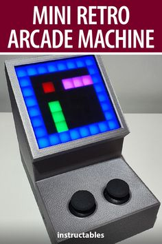 berlingozzo made this mini retro arcade machine that is Arduino-based, 3D printed, and battery powered. #Instructables #electronics #technology #arduinoproject #3Dprint