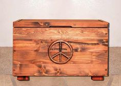 Peace And Flower Power Can Last Forever - Family Heirloom Hope Chest