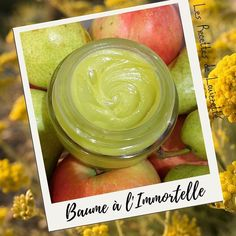 Baume Apaisant à l'Immortelle Olives, Immortelle, Pickles, Cucumber, Food, Flasks, Homemade, Recipes, Meals