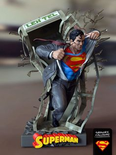 Diorama of #Superman busting into action | by Gregory Callahan » Creating characters with character.