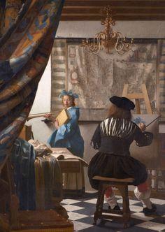 Johannes Vermeer, Rembrandt, Vermeer Delft, David Hockney Art, Vermeer Paintings, Kunsthistorisches Museum, Dutch Golden Age, Baroque, Classic Paintings