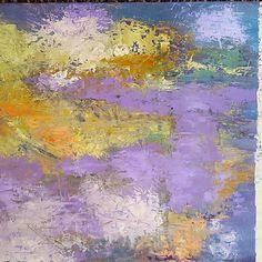 Pond, oil and cold wax. #denverart #kunst #arte #denverartist #abstractlandscape #abstractart #karibell #williamsburgoils
