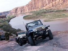 Climbing in a Jeep