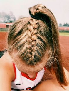 hairstyles up in a ponytail hairstyles cornrows braid hairstyles hairstyles with 4 packs of hair hair vines hairstyles girl with weave hairstyles quiff hairstyles Sporty Hairstyles, Box Braids Hairstyles, Hairstyle Ideas, Soccer Hairstyles, Track Hairstyles, Braided Ponytail Hairstyles, Athletic Hairstyles, Famous Hairstyles, Hairstyle Pictures