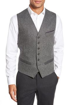 Ted Baker London 'Duk' Contrast Waistcoat available at #Nordstrom