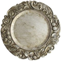 "The Jay Companies 14"" Round Silver Aristocrat Polypropylene Charger Plate"