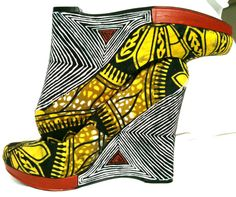 African Fabric Shoe Mopani by SouthOfAfrica on Etsy, $56.00