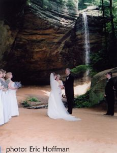 Ash Cave, waterfall weddings in OH