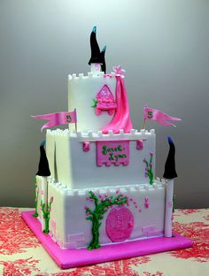 Royal Castle Cake with Pink and Black