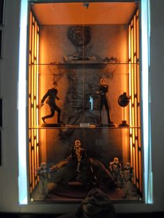 Built In Sw display with Han Solo Carbonite Backdrop. By. Tommy-Windu