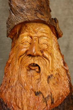Wood Spirit Wood Carving Christmas Gift for by TreeWizWoodCarvings, $135.00