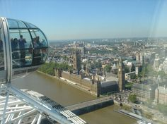 The London Eye is a giant Ferris wheel situated on the banks of the River Thames, in London, England.