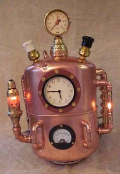 A Steampunk time travel machine as described by H.G. Wells.