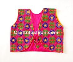 fashion wear jacket koti- Designer Handmade Sleevless koti- Navratri KOTI