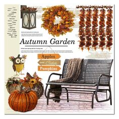 """""""Autumn Garden Decor"""" by asteroid467 ❤ liked on Polyvore featuring interior, interiors, interior design, home, home decor, interior decorating, Harvest, Hinkley Lighting, Smith & Hawken and Nearly Natural"""