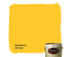 Dunn-Edwards Paints color: Bumblebee DE5342 | Click for a free color sample. #DunnEdwards
