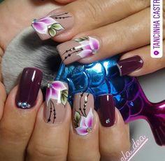 Gorg Pink Nail Designs, Nail Polish Designs, Nails Design, Luminous Nails, New Nail Art, Fancy Nails, Stylish Nails, Flower Nails, Beautiful Nail Art
