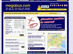 Megabus presta servicio de autobús expreso a un bajo precio para trasladarte entre ciudades.