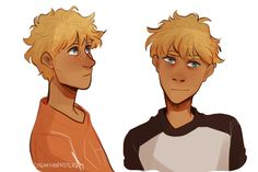 Artist: i'm tryna redesign older will a bit, since i have some new sad ideas for him :^) Percy Jackson Quotes, Percy Jackson Fan Art, Percy Jackson Fandom, Solangelo, Percabeth, Saga, Will Solace, Trials Of Apollo, Fanart