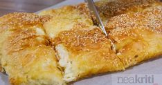 Spanakopita, French Toast, Pizza, Cheese, Cooking, Breakfast, Ethnic Recipes, Food, Kitchen