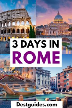 Visitng Rome for 3 days? Here is the complete 3 day Rome itinerary that will guide you in this Italian city.| 3 days in Rome| Rome itinerary for 3 days| 3 days in rome itinerary| how to send 3 days in Rome| what to do in Rome in 3 days| things to do in Rome in 3 days| Rome Italy 3 day itineray| Rome itinerary| 72 hours in Rome| Rome 3 day travel itinerary| best places to visit in Rome, Italy| must visit places in Rome #Destguides
