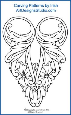 Carving Patterns by Lora Irish Wood Craft Patterns, Wood Carving Patterns, Carving Designs, Deer Skull Art, Cow Skull Decor, Leather Tooling Patterns, Leather Pattern, Leather Craft Tools, Leather Projects