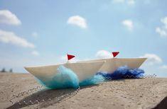#Fascinator #Boat #Headband #Ship #WhiteBlue #seaparty #HairAccessories #etsyshop #melmetextil