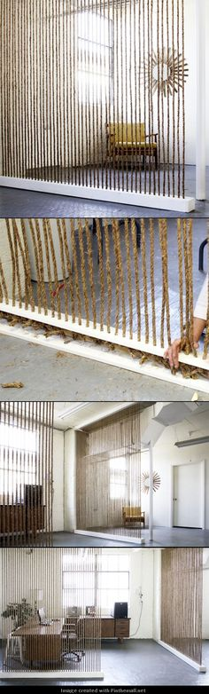 DIY-Home-Decor: DIY ROPE WALL