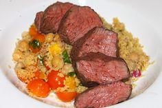Sous Vide Beef Tenderloin with Mediterranean-Style Cous Cous