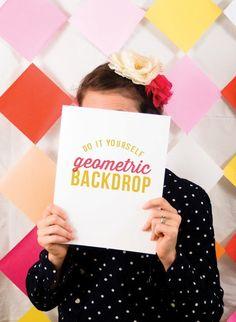 #DIY #Geometric Party #Backdrop