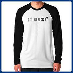 Teeburon Got Exercise? Raglan Long Sleeve T-Shirt - Workout shirts (*Amazon Partner-Link)