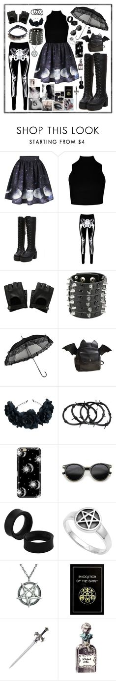 """Tumblr Goth"" by gothiclullaby on Polyvore featuring Boohoo, Hot Topic, Casetify, ZeroUV and S.W.O.R.D."