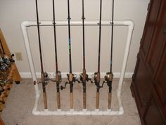 fishing pole storage | Homemade Fishing Rod Storage Rack | Fishing Rods and Poles