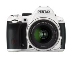 Pentax K-50 16MP Digital SLR Camera Kit with DA L 18-55mm WR f3.5-5.6 Lens (White)