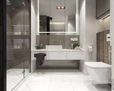 MINIMALIZM Z TURKUSEM - Średnia łazienka w bloku w domu jednorodzinnym bez okna, styl nowoczesny - zdjęcie od PEKA STUDIO