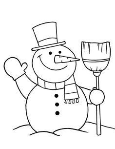 Snowman Color Pages