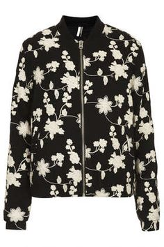 Floral Embroidered Bomber Jacket - New In This Week  - New In