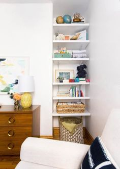 Smart shelving | How To Decorate Small Living Room: Big Ideas For Small Spaces