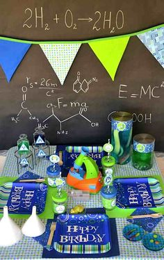 Anniversaire Enfant Th Me Sciences Scientifiques Exp Riences Kids Party Ideas Pinterest