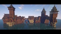 lake town minecraft - Google Search