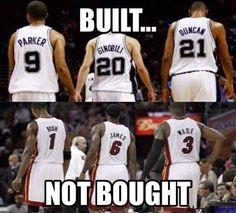 San Antonio Spurs were built… Not bought