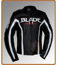 Blade Trinity Black Motorcycle Leather Jacket