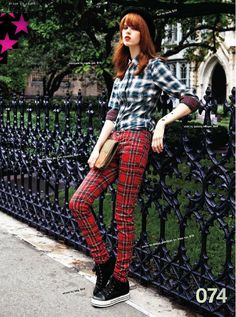 Absolutely love plaid, wish I could own and rock those pants...