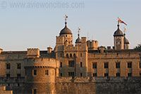 The famous Tower of London built at the beginning of the 11th century by William the Conqueror as a mighty fortress to enforce the power of the king.