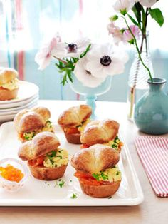 Brioche rolls with scrambled egg and citrus-cured ocean trout